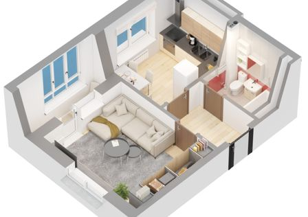Продаётся 1-комнатная квартира, 34.9 м²