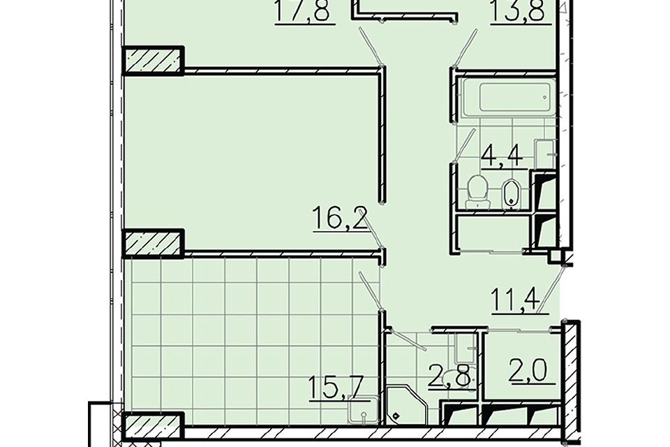 Продаётся 3-комнатная квартира, 84.6 м²