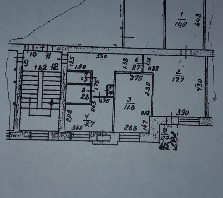 Продаётся 3-комнатная квартира, 62.9 м²